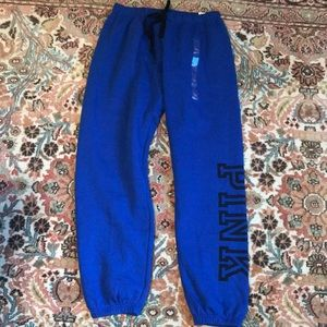 PINK Blue Joggers